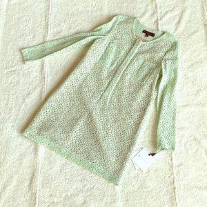 💖 Darling sea foam lace dress w/ nude lining